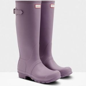 NEW Hunter Rain Boots Tall Side Adjustable Purple